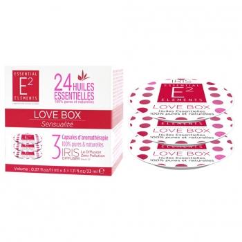 Love Box Trio de Capsules aux 24 Huiles Essentielles naturelles SENSUALITÉ - Diffuseur IRIS de E2 Essential Elements