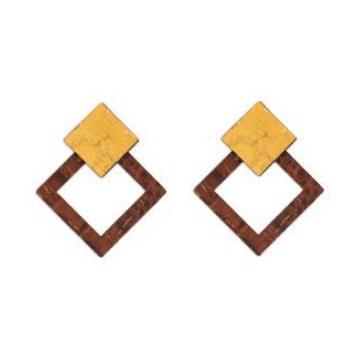 Boucles d'oreilles geometric brown