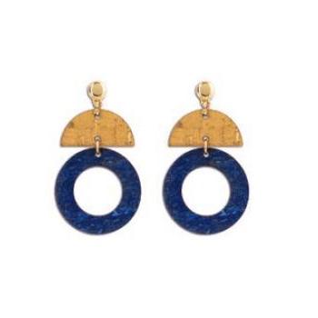 Boucles d'oreilles geometric blue