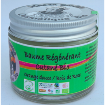 Baume crémeux BIO au Vrai Karité/Orange douce/ Bois de Rose 60 ml