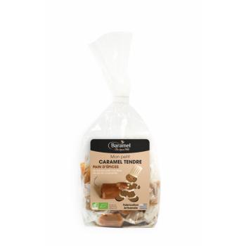 Caramels Tendres Pain d'épice Papillotes bio (sachet de bonbons individuels) 120g - Baramel