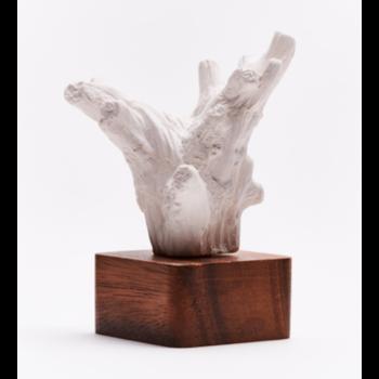 Sculpture en bois et céramique / KINO