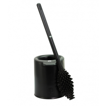 'bbb La Brosse' brosse WC avec support - Made in France - Noir zan
