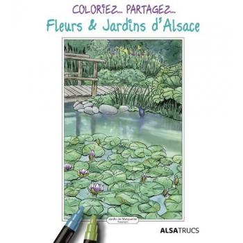 Pochette de coloriages fleurs et jardins d'Alsace
