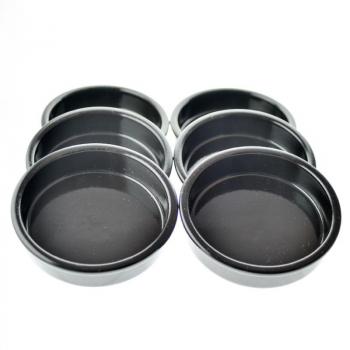 Set 6 cassolettes noire