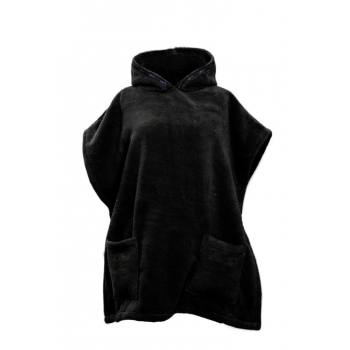 LUIN LIVING - Casual Poncho (XS-M) BLACK