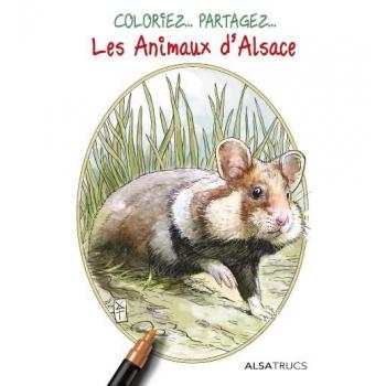Pochette de coloriages animaux d'Alsace