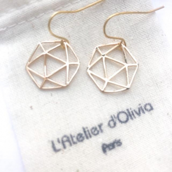 Boucles d'oreilles Icosaèdre (5 solides de Platon)