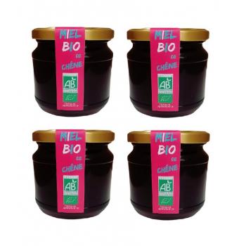 4 Pièces Miel Bio de Chêne Le Monopati 0,5kg/pièce