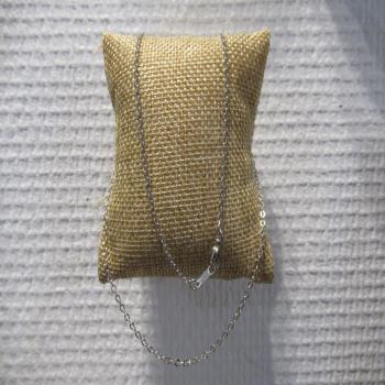 Chaîne en métal argenté 45cm