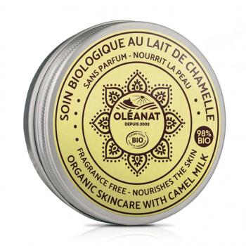 Soin au lait de chamelle biologique sans parfum - Oléanat - 50 ml