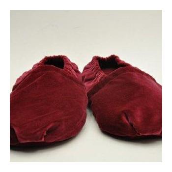 Chaussons chauffants bordeaux pointure 35-39