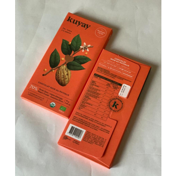 Chocolat noir Kuay 70% au physalis - pur origine Pérou