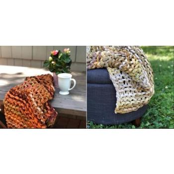 plaid sari recyclé mauve