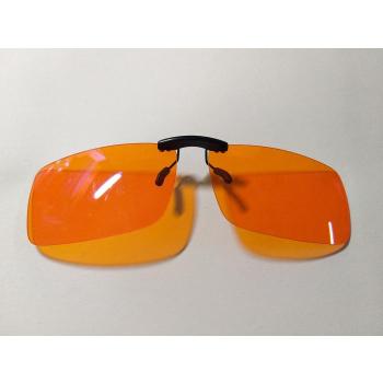 Clip lunettes orange anti lumières bleues écrans  et conduite de nuit