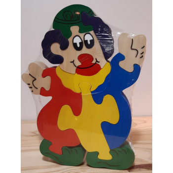 Puzzle en bois clown