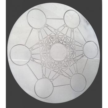 Cube de Métatron rond à tout faire en laiton nickelé D.10.5 cm