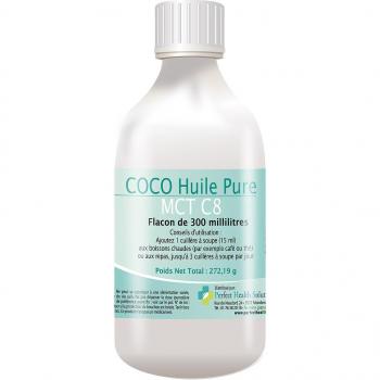 COCO Huile (Pure MCT C8) - Pour une bonne santé - Flacon de 300 ml