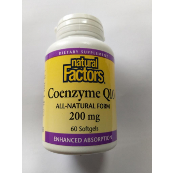 Coenzyme Q10, 200 mg, 60 capsules à enveloppe molle