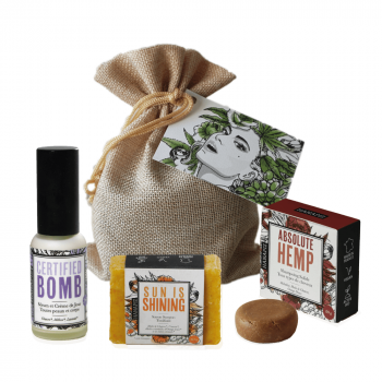 "Pochon cadeau Chanvre - ""Hemp Beauty"""