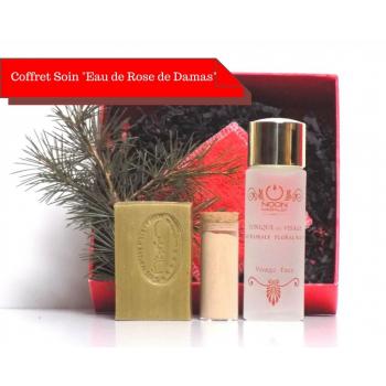Coffret cadeau soin teint éclatant eau de rose, savon d'Alep et argile rose