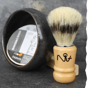 Coffret de rasage : bol à barbe, savon de rasage et blaireau de rasage