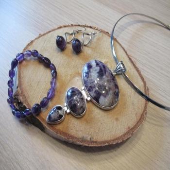 Coffret bijoux en améthyse