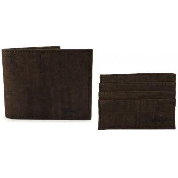 Set de poche Portefeuille et Porte Carte en cuir végétal de liège