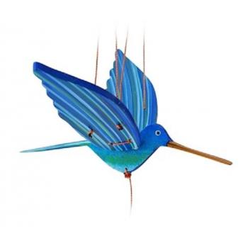 Mobile artisanal  colibri bleu  issu du commerce équitable