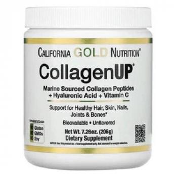 Collagène marin hydrolysé + Acide hyaluronique + Vitamine C, Sans arôme, poudre 206 g