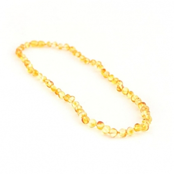 Collier ambre citrine baroque pour femme