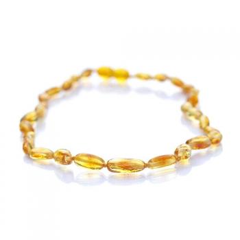 Collier bébé olivette ambre jaune citrine