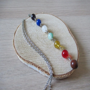 collier long 7 chakras