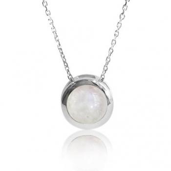 Collier argent 925 pierre de lune