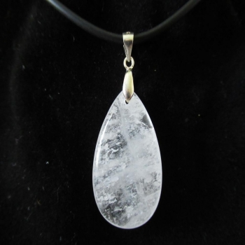 Collier Cristal de roche craquelé