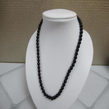 Collier en onyx noir