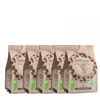Espresso Monte-Carlo - PACK 100% BOURBON - 50 capsules biodégradables et compatibles Nespresso