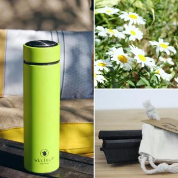 Coffret Découverte thermos ⎥filtre à eau ⎥charbon de bambou naturel