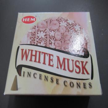 """Cônes encens """"musc blanc"""""""