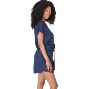 Robe tunique decontractee bleu marine