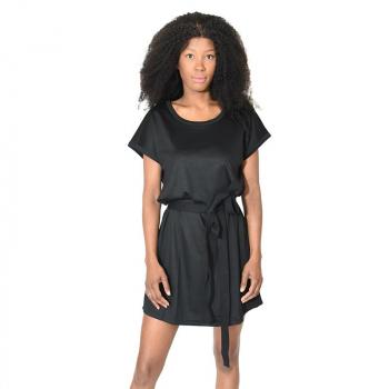 Robe tunique merinos decontractee noir