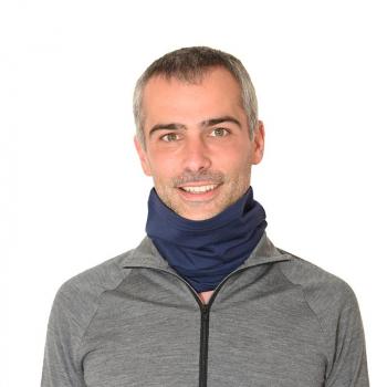 Tour de cou unisexe en pure laine mérinos bleu indigo