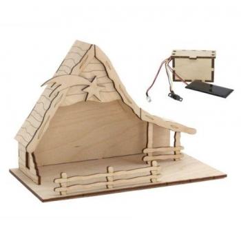 Maquette Crèche solaire en bois