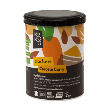 crackers carotte curry