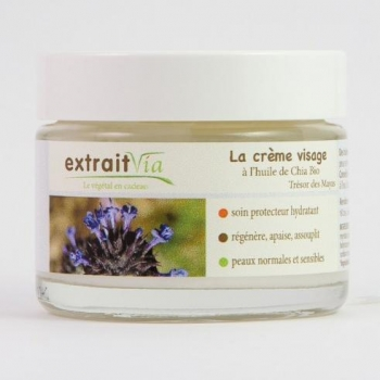 Crème visage à l'huile biologique de Chia