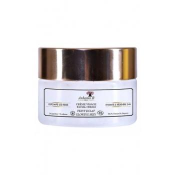 Crème visage Bio Teint Éclat (Double action : Hydratation 24 H, anti-rides) - 50 ml