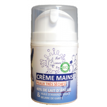 Crème main au lait d'ânesse