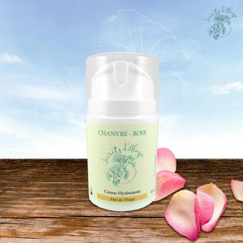 Crème Hydratante Chanvre - Rose - 50 ml - Peau Mixte