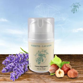 Crème Régulatrice Noisette - Lavande Certifié BIO - 50 ml - Peau Grasse