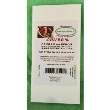 Chocolats Noirs CRUS au Xivia 80 %